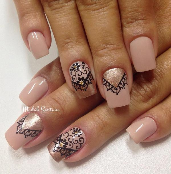 Nude color nail art-31