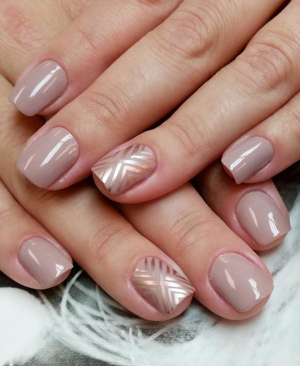 Nude color nail art-32