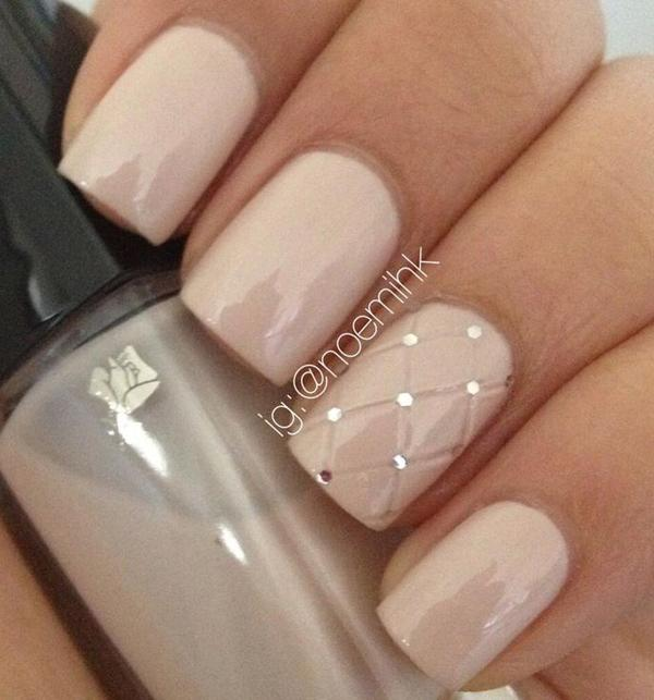 Nude color nail art-33