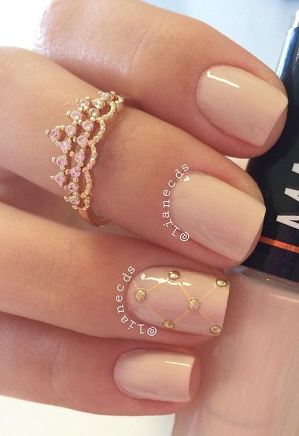 Nude color nail art-35