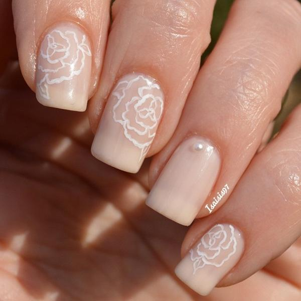 Floral Inspired Nude Nail Art Design Make Your Have More Life By