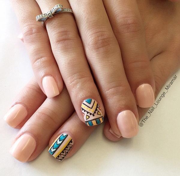 Nude color nail art-37