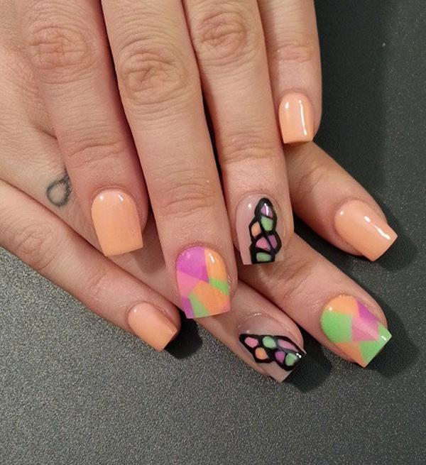 Nude color nail art-39