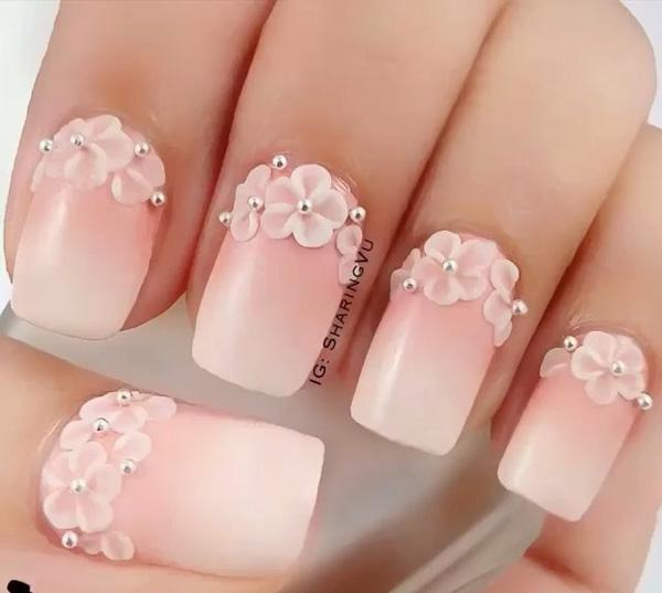 Nude color nail art-5