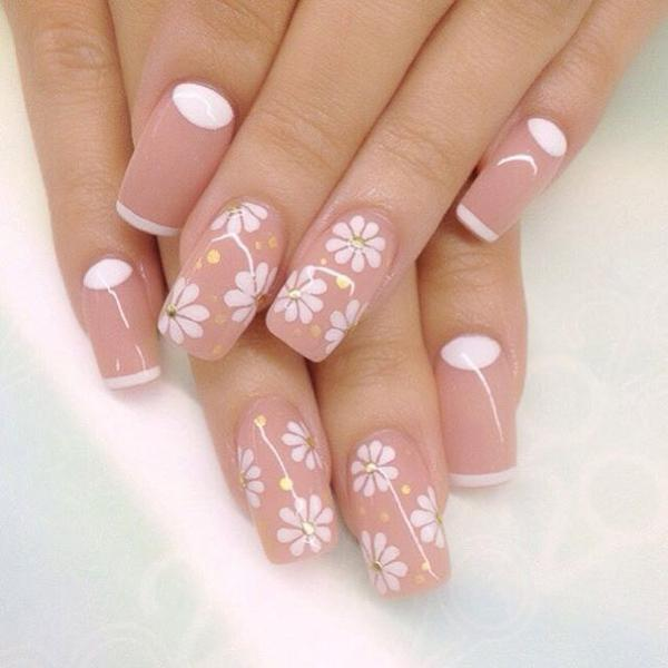 Nude color nail art-7
