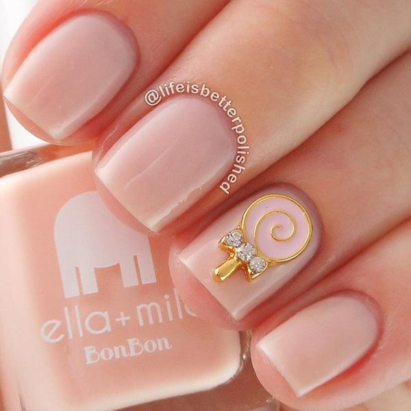Nude color nail art-9