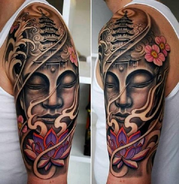 0d7ec53209cac 60 Inspirational Buddha Tattoo Ideas | Art and Design