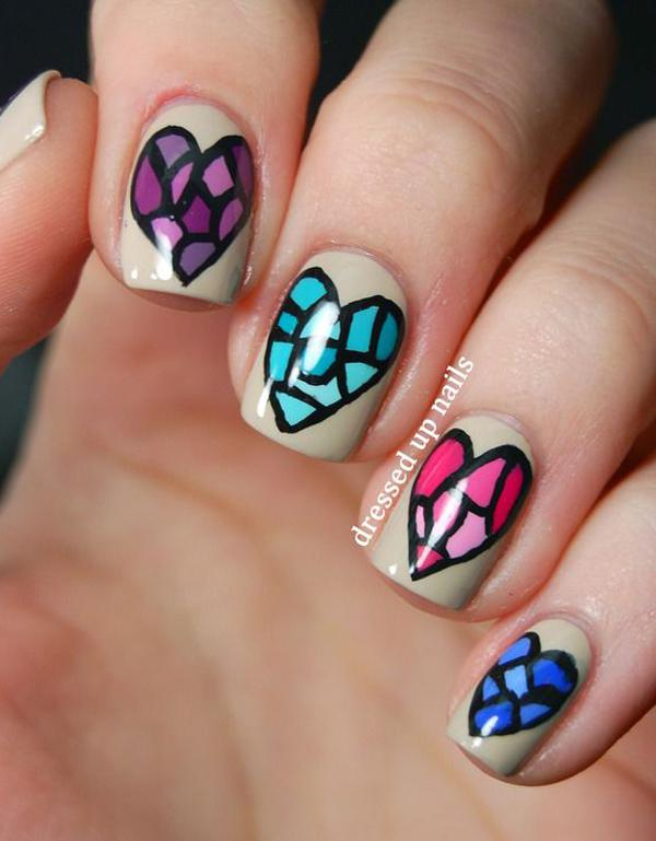 50 valentines day nail art ideas art and design another diy design for those who are practicing with their nail art designs solutioingenieria Choice Image