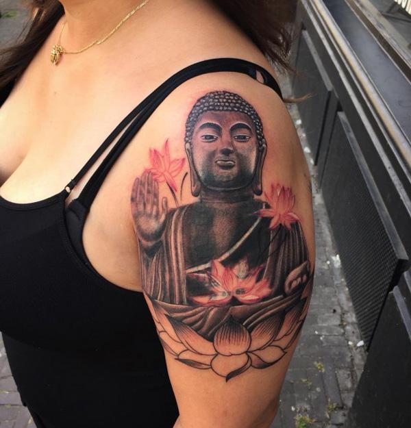 buddha  half tattoo-31