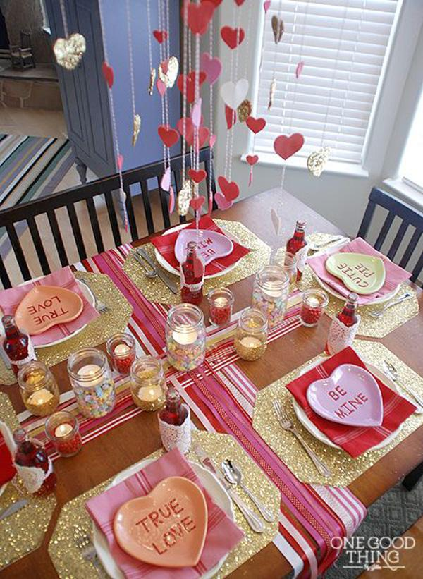 great Valentine's Day with the whole family - decor