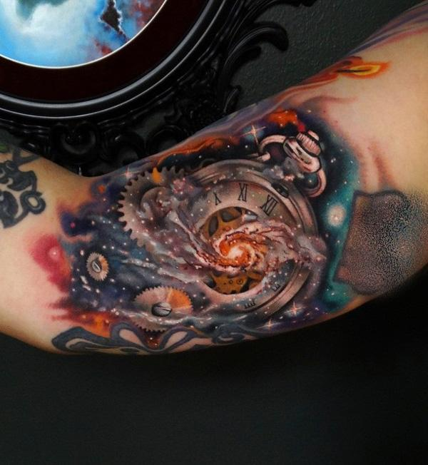 space with watch sleeve tattoo