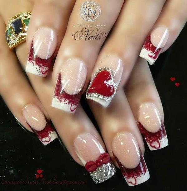 valentine's day nail art 10 - 50 Valentine's Day Nail Art Ideas ... - 50 Valentine's Day Nail Art Ideas Art And Design