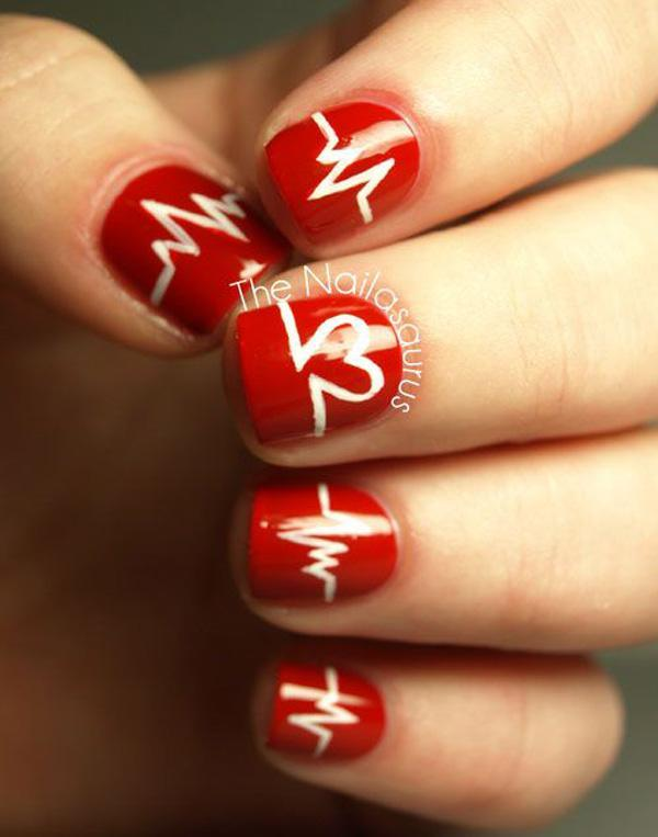 """As long as you live, you can love"", this could possibly be - 50 Valentine's Day Nail Art Ideas Art And Design"