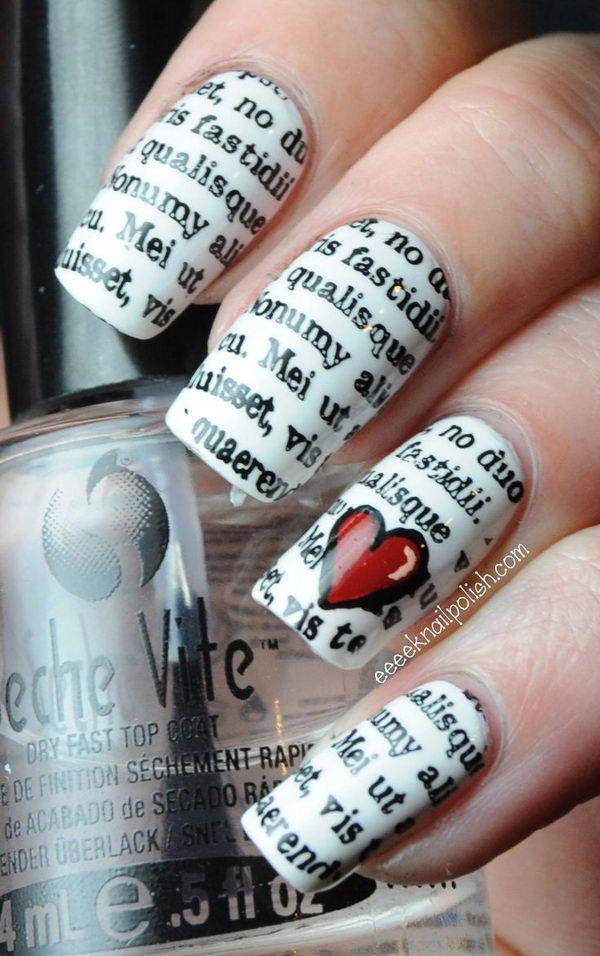 50 Valentine\'s Day Nail Art Ideas | Art and Design