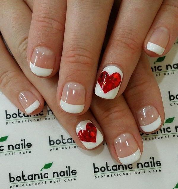 Here's a much more simpler design for you. It's perfect when you haven't ... - 50 Valentine's Day Nail Art Ideas Art And Design