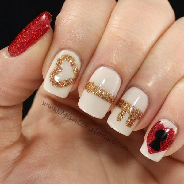 valentine's day nail art-8