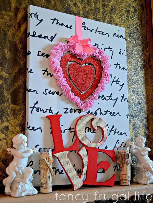 wreath and love letters