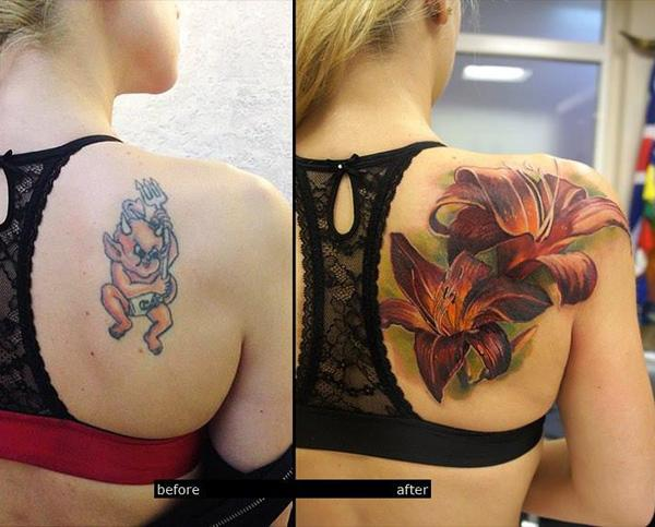 3D lily cover up tattoo-42