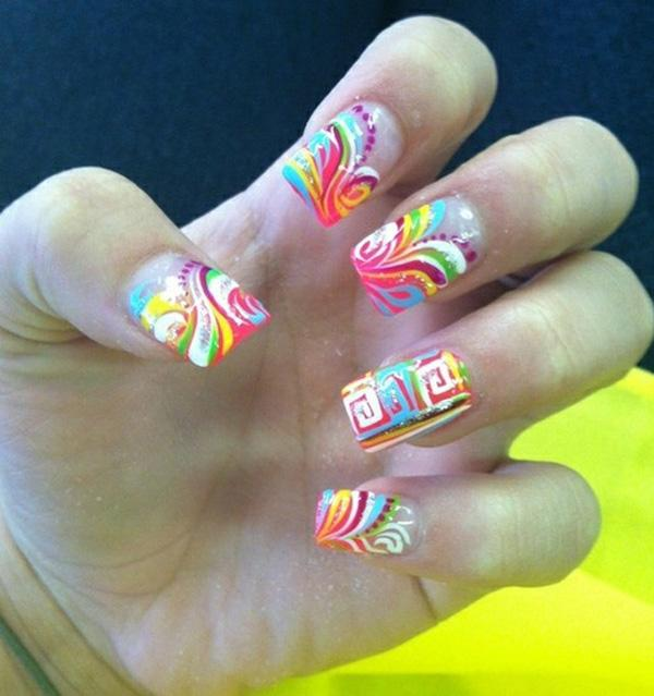 Abstract nail art-1