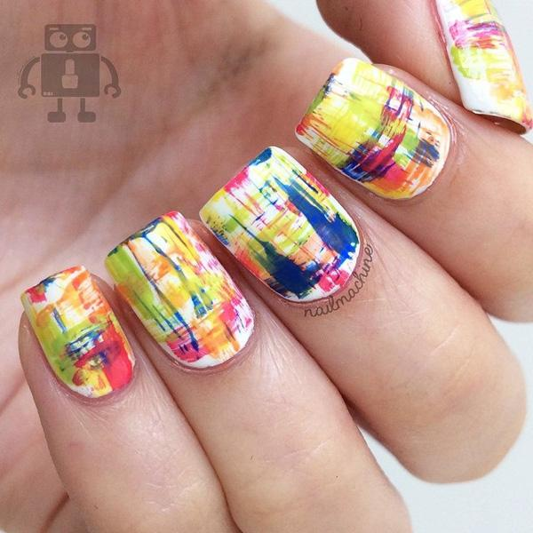 Abstract nail art-10