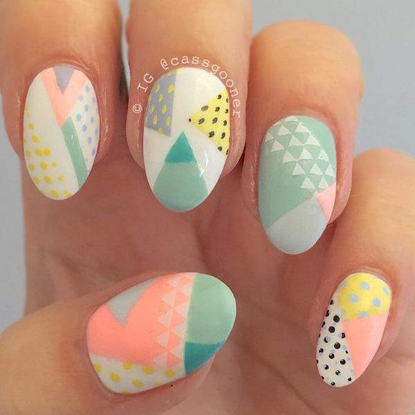 Abstract nail art-22