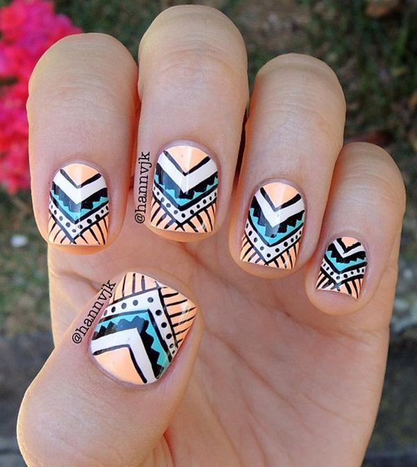 Abstract nail art-25