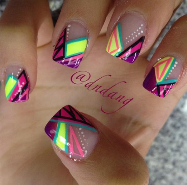 Abstract nail art-27