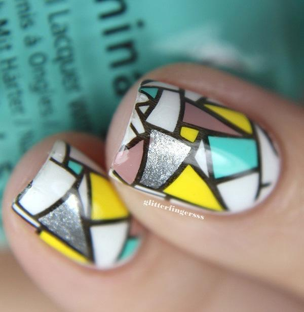 Abstract nail art-30