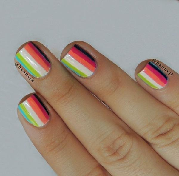 Abstract nail art-32
