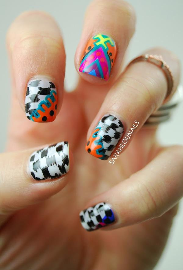 Abstract nail art-39