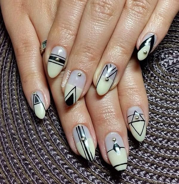 Abstract nail art-41