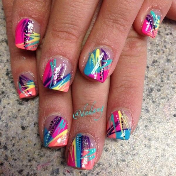 Abstract nail art-46