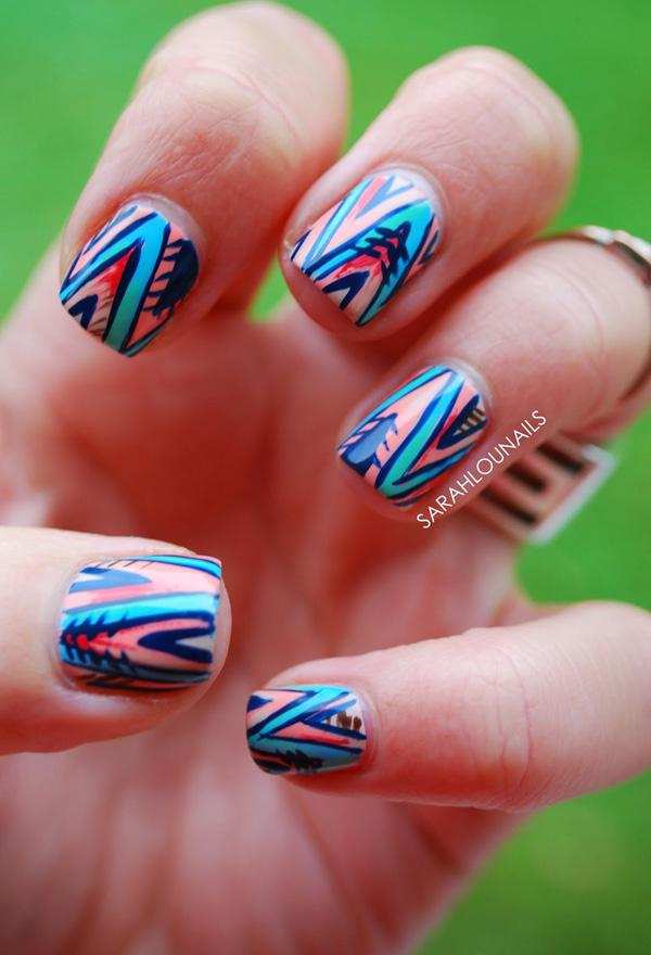 Abstract nail art-48