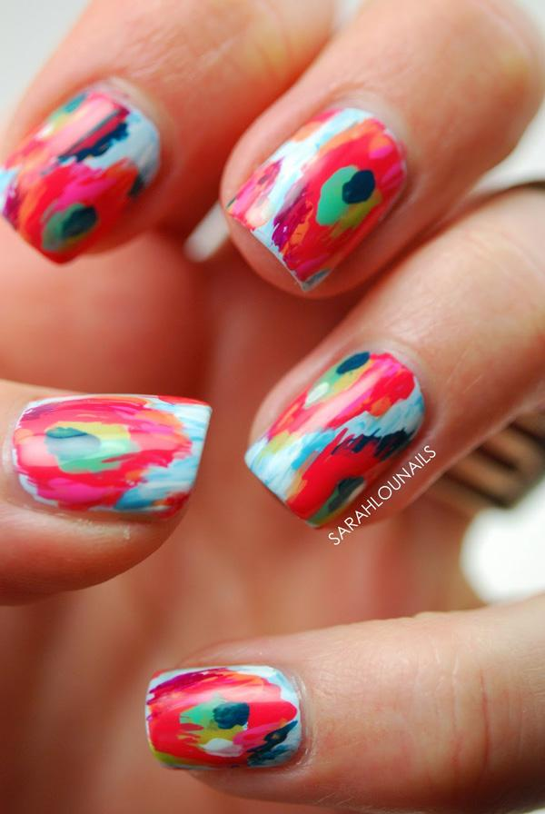 Abstract nail art-49