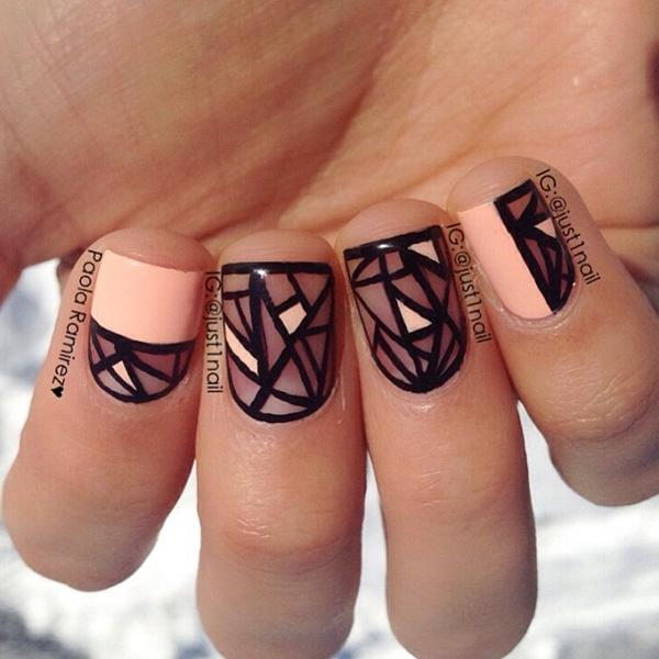 Abstract nail art-5