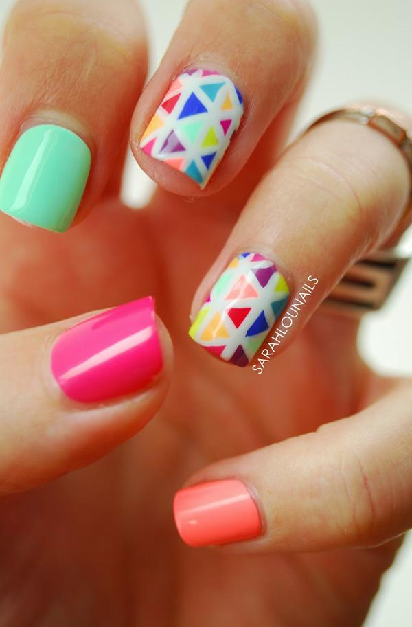 Abstract nail art-50