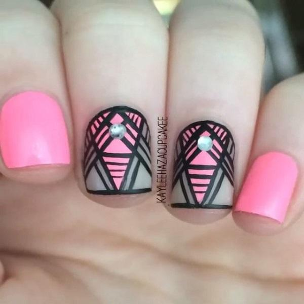Abstract nail art-53