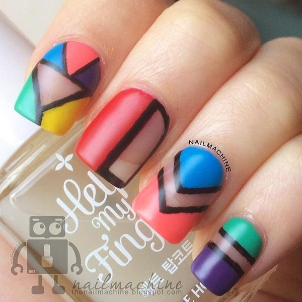 Abstract nail art-9