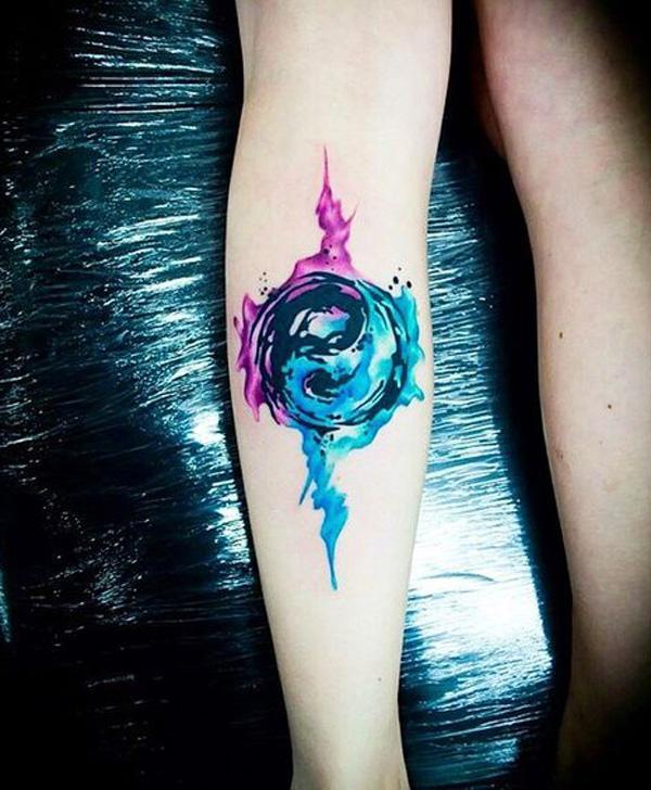 Awesome watercolor Yin Yang-1