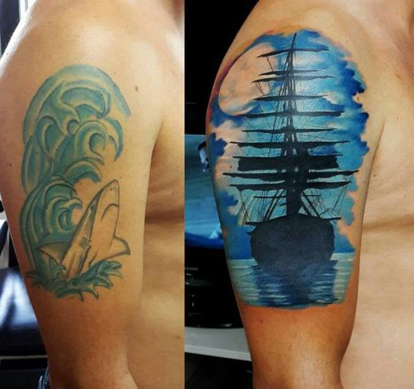55 Incredible Cover Up Tattoos Before And After Cuded
