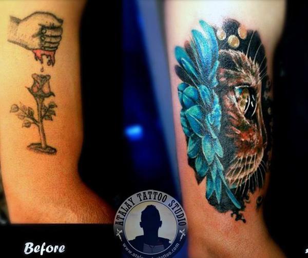 55+ Unglaubliche Cover-Tattoos vor und nach