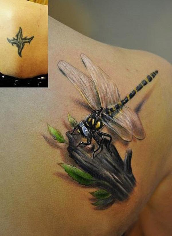 Dragonfly cover up tattoo-10