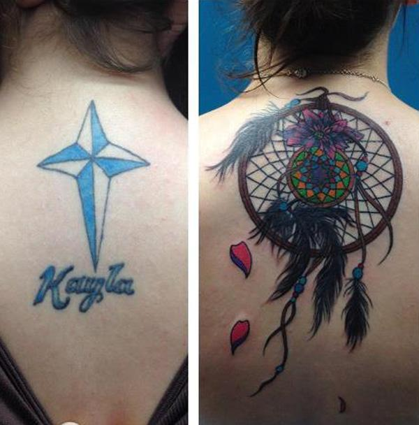 Dream Catcher Cover Up Tattoo-50