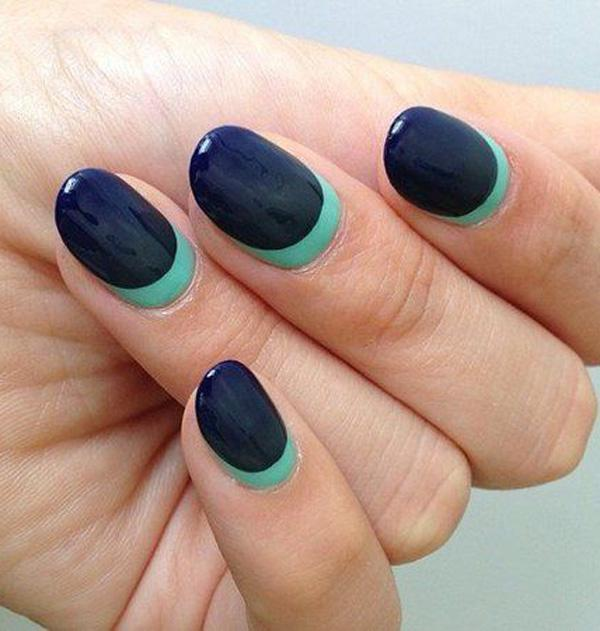Gorgeous Navy moon Nails