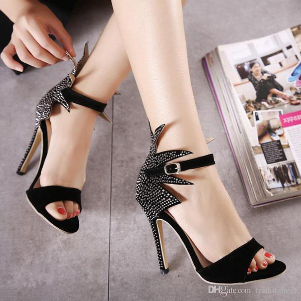 Milan Fashion Show Sexy High Heels Sandals Designer Shoes Women Party Club Wear 11cm size 35 to 40