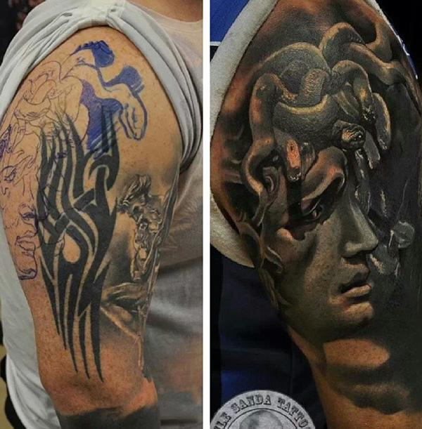 Portrait cover up tattoo-4