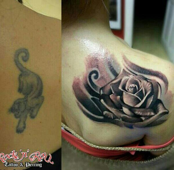 Rose cover up tattoo-7