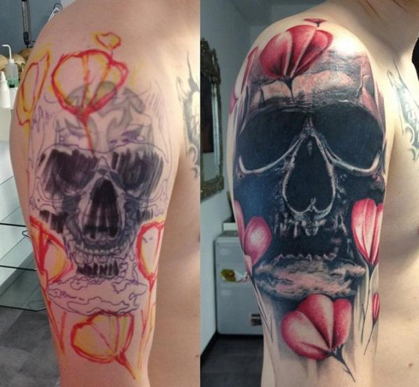 Coverup tattoo design ideas from tattoo tailors for How to cover up tattoos for work