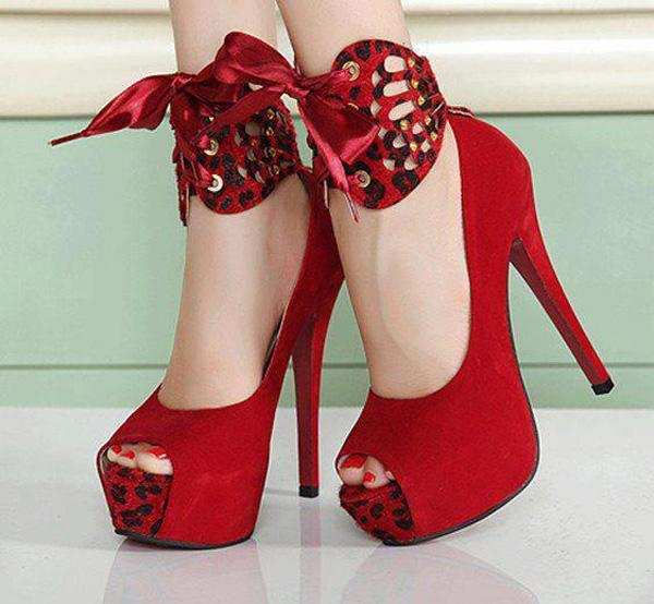 Stylish Red High Heels
