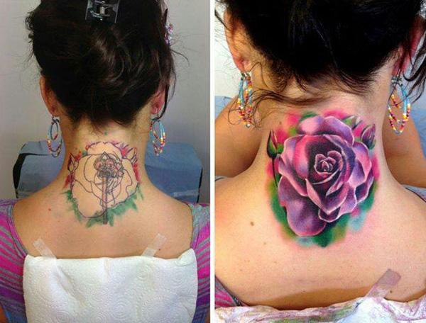 Watercolor rose tattoo cover up-56